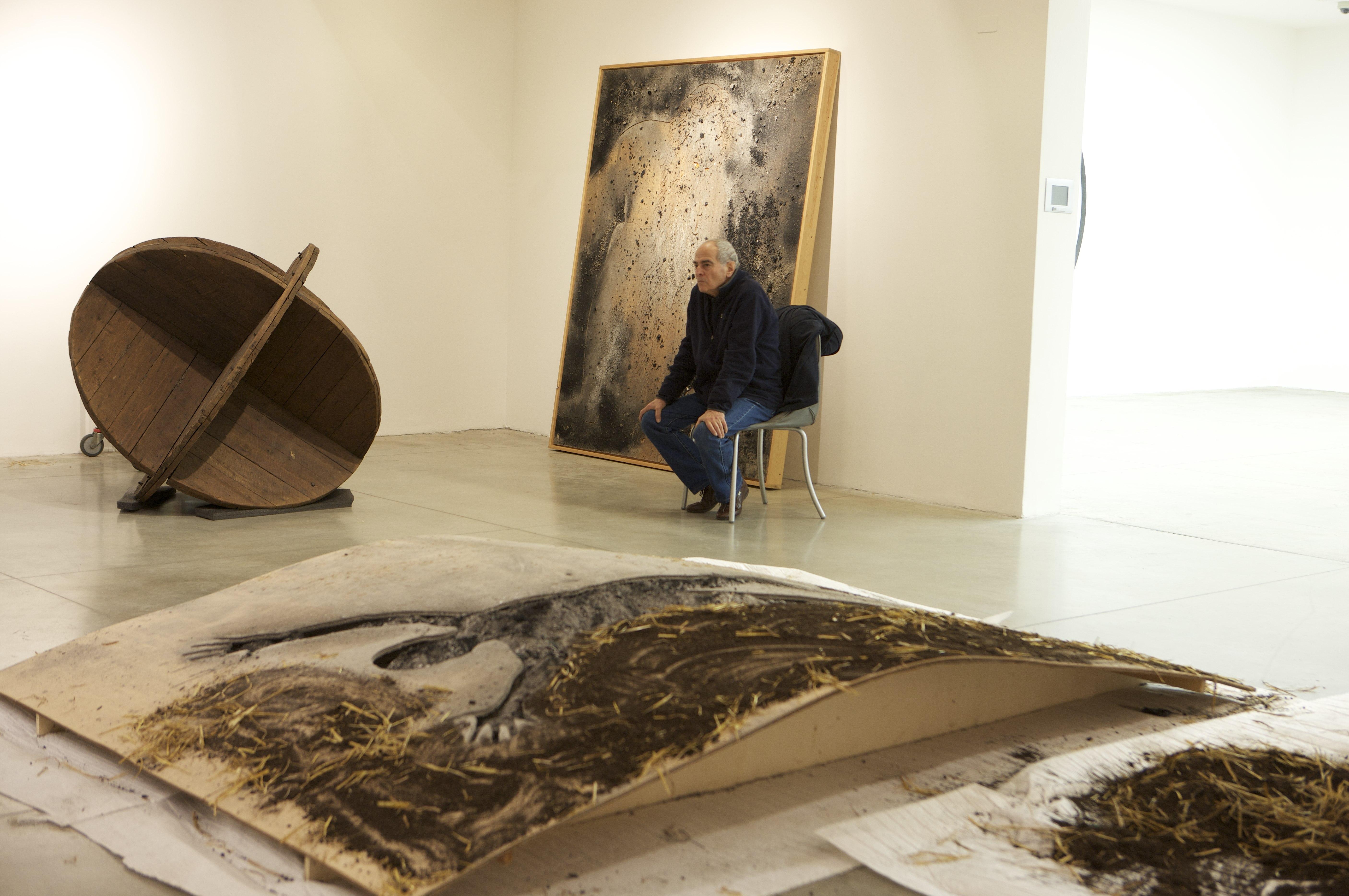 allestimento mostra faccia a faccia di Mario Ceroli foto Aurelio Amendola