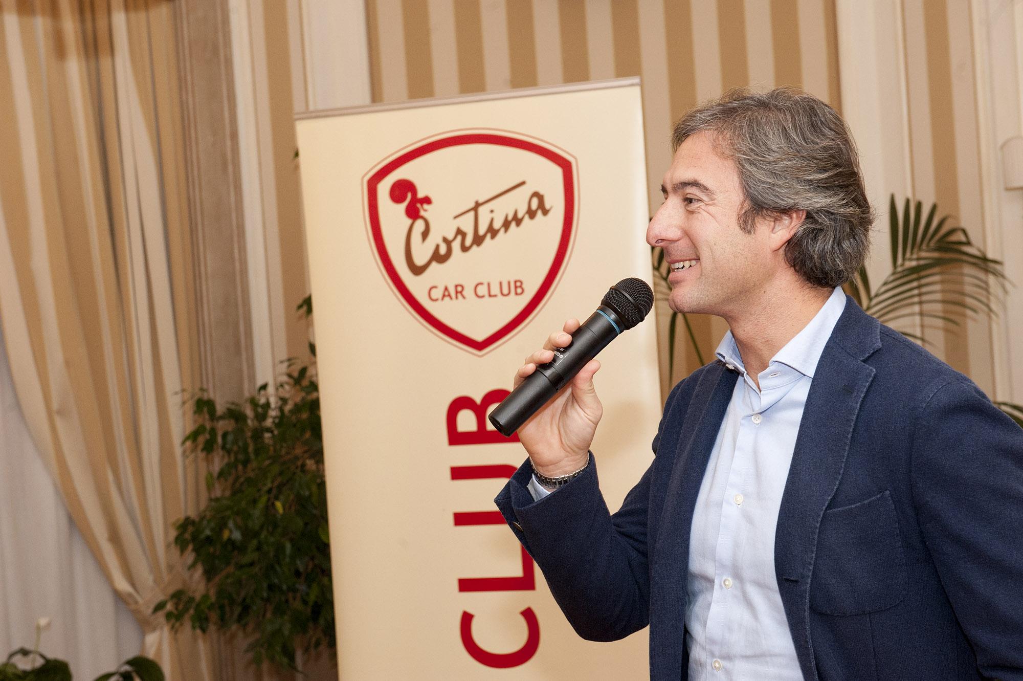 Il neo presidente del Cortina Car Club Gianmarco Gamberini.