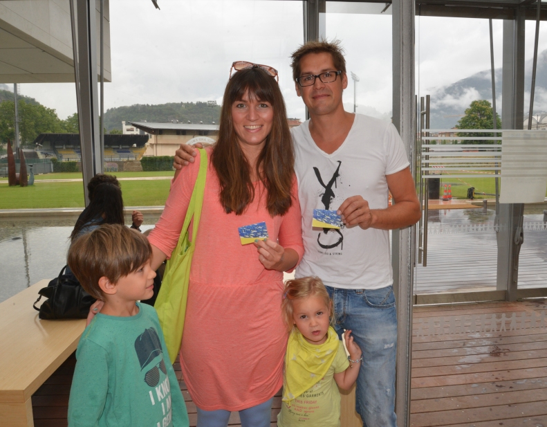 La Famiglia Teyml che ha staccato il biglietto n. 500.000.